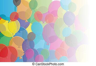 Ballons fade - A selection of multi coloured balloons that...