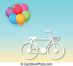 ballons, fiets