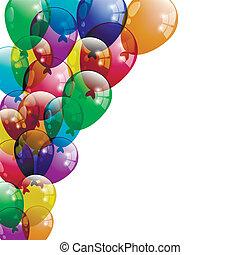 ballons, fond, colorfull