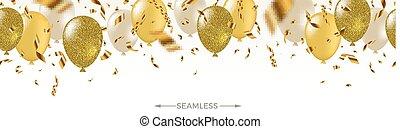 ballons, illustration, confetti, salutation