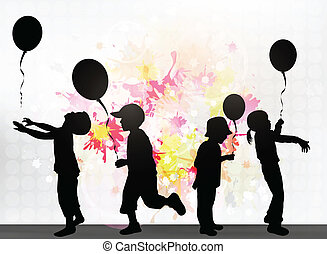 ballons, kinderen