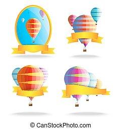 ballons, linten
