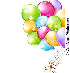 ballons, multi-coloré