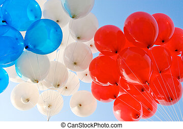 Ballons. - Three colors balloons.