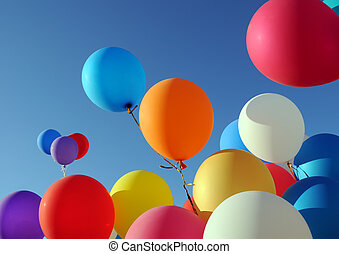 ballons, veelkleurig