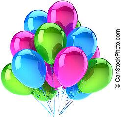 ballons, verjaardagsfeest, versiering
