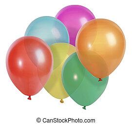 ballons, vrijstaand, op wit
