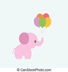 balloon, éléphant