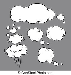 balloon, イラスト, ベクトル, メッセージ, 泡, 話す