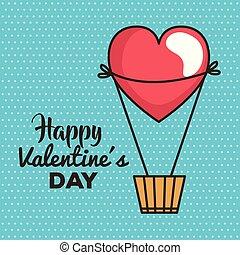 balloon, バレンタイン, 空気, 暑い, 日, カード