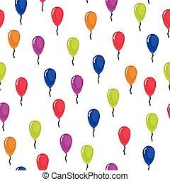 balloon, ベクトル, イラスト