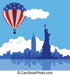 balloon, 空気, ニューヨーク