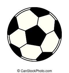 balloon, 隔離された, 黒, 白, サッカー, 漫画, アイコン