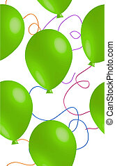 balloon, 녹색, seamless, 배경