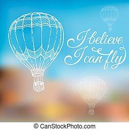 balloon, 하늘, 공기
