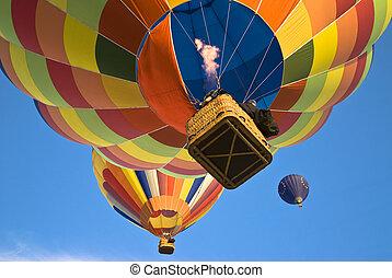 balloon, actioning, バーナー, 熱気
