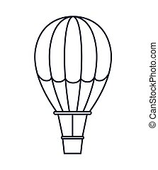 balloon air hot isolated icon design