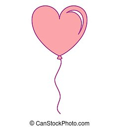 balloon air with heart shape