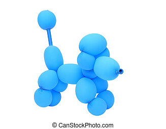 balloon animal poodle isolated on white background