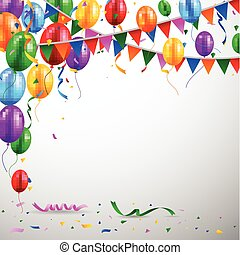 balloon, anniversaire