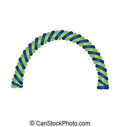 Balloon arches vector
