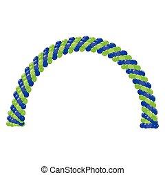 Balloon arches vector
