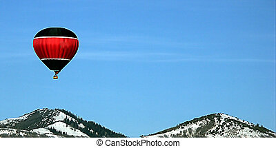balloon, aus, aufstellen