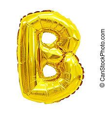 balloon, b, lettre