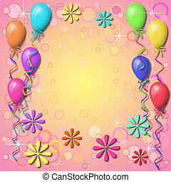 Balloon Background Border with Circles