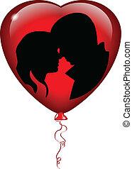 balloon, baiser
