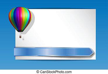 balloon, bandeira