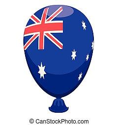 balloon, bandiera australia