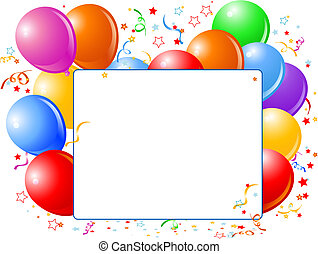 Balloon Banner - Vector Illustration of blank place card...