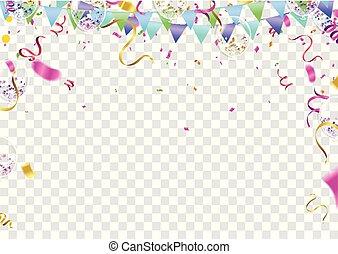congratulations banner with colorful confetti white congratulations