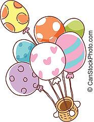 balloon, bateau, flotter