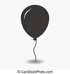 Balloon black icon