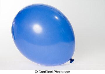 Balloon - Blue balloon on gray background