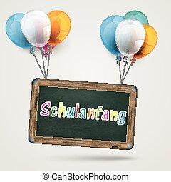 Balloon Board Schulanfang