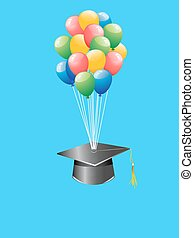 balloon, boné, graduação