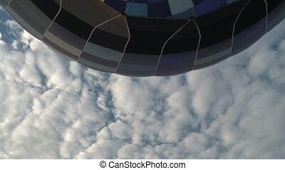 Balloon burner close up aerial view