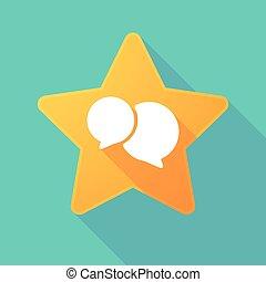 balloon, cômico, estrela, sombra, longo