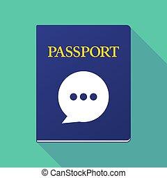 balloon, cômico, sombra, passaporte, longo