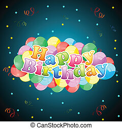 balloon, carte anniversaire