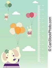 Balloon cartoons ,Meter wall
