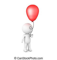 balloon, charakter, majetek, lesklý, červeň, 3