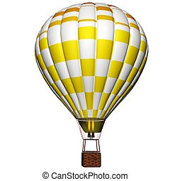 balloon, chaud, isolé, air