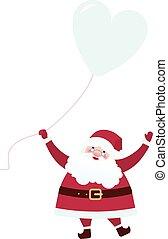 balloon, claus, santa