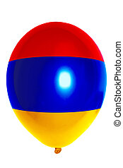 Balloon colored in national flag of armenia