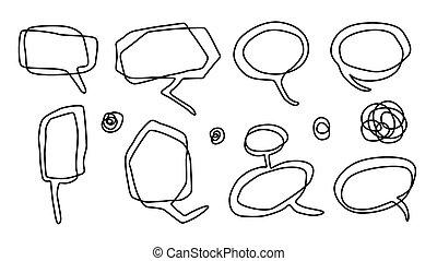 Balloon comics contour drawing