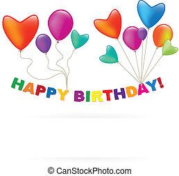 balloon, compleanno, Felice